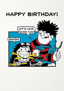 Beano 'Let's Have Some Fun!' Birthday Card
