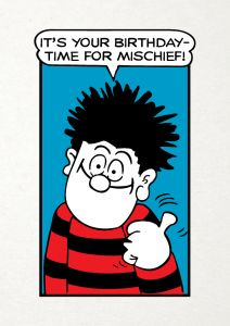 Beano 'It's Your Birthday - Time For Mischief' Card