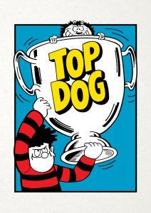 Beano 'Top Dog' Card