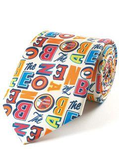 Beano Alphabet Silk Tie