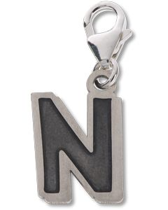 Beano Comic Book Letter 'N' Silver Charm