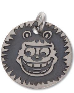 Beano Gnasher Round Mini Silver Tag