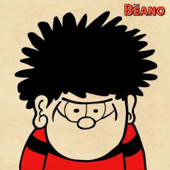 Beano - Dennis Blank Greeting Card