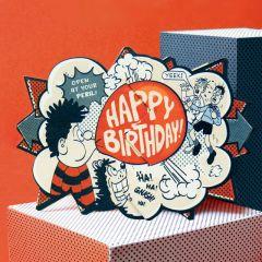 Dennis Bubblegum Beano Surprise Card