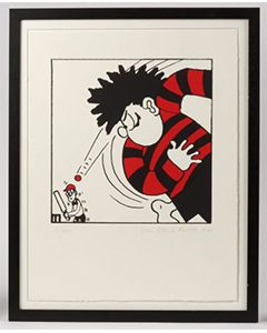 Beano Dennis the Menace Bowls Print - Thumbnail