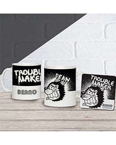Beano Big Heads Gnasher Mug & Coaster