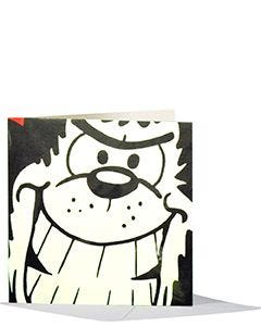 Gnasher Glares Greeting Card - Swatch
