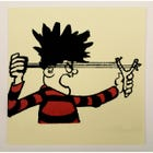 Dennis the Menace Catapult Greeting Card