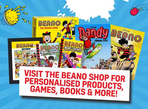 Beano Shop Homepage