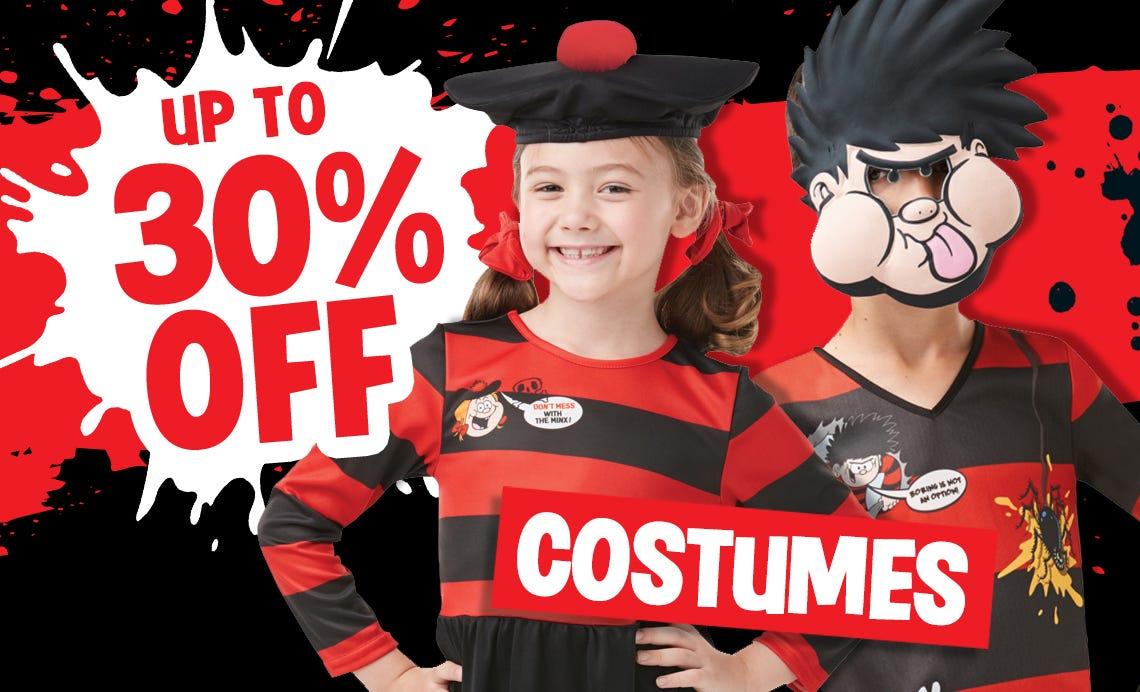 Fancy Dress Costumes - Up to 30% off